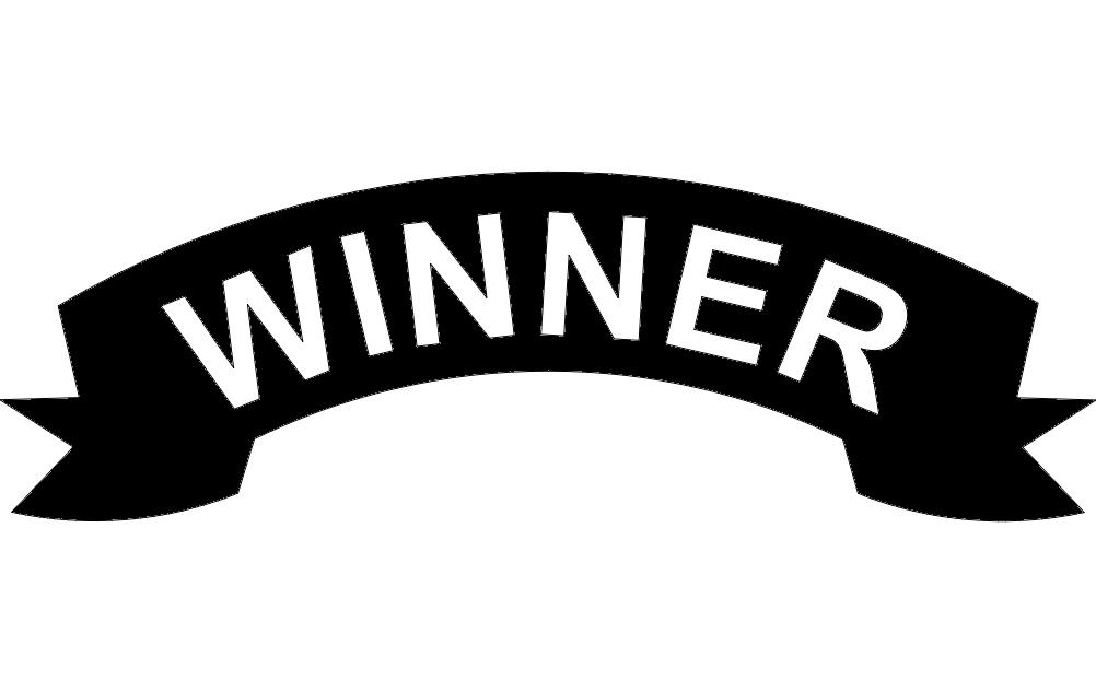 Winner Banner Free DXF File