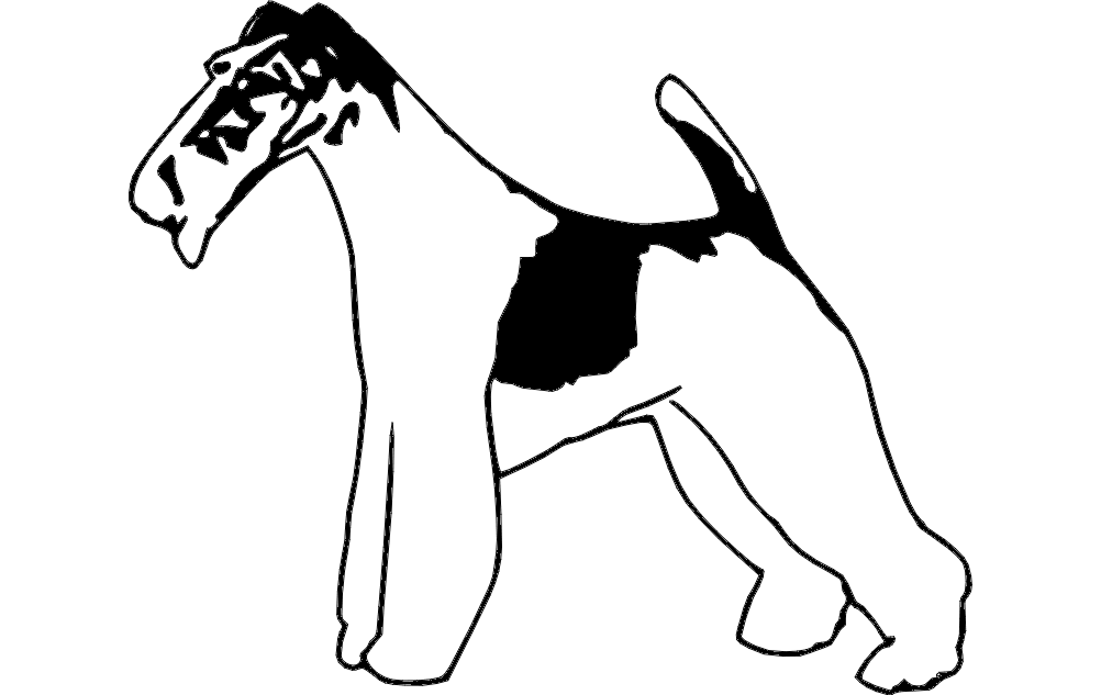 Wire Fox Terrier 2 Free DXF File