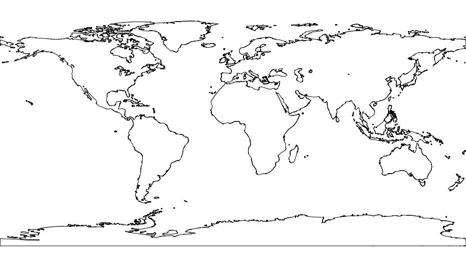 World Map Art Free DXF File