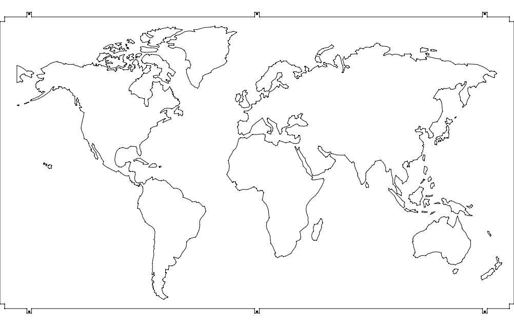 World Map 21 Free DXF File
