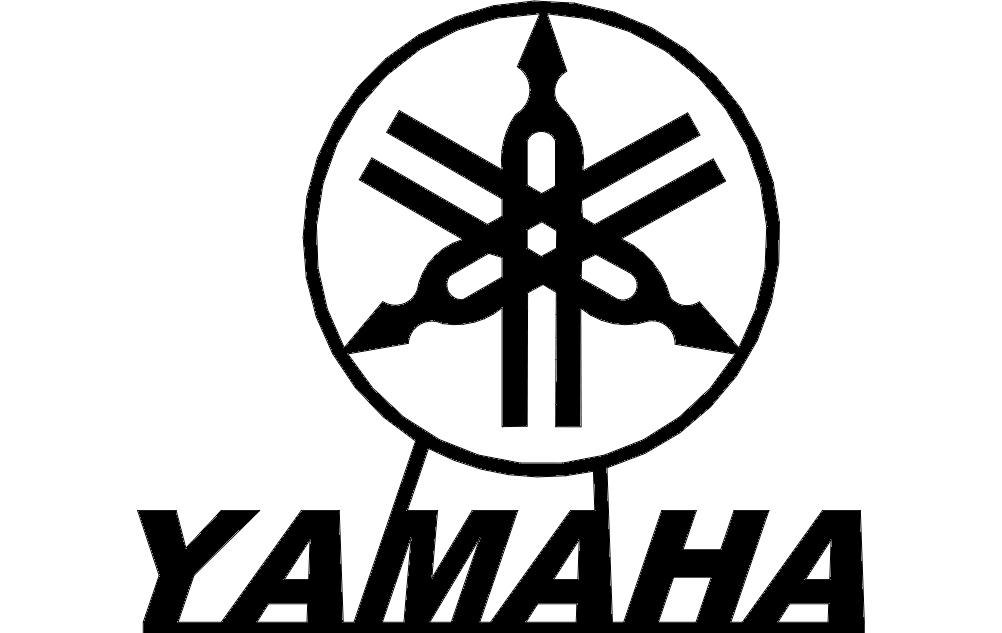 yamaha logo classic free dxf file for free download vectors art yamaha logo classic free dxf file for