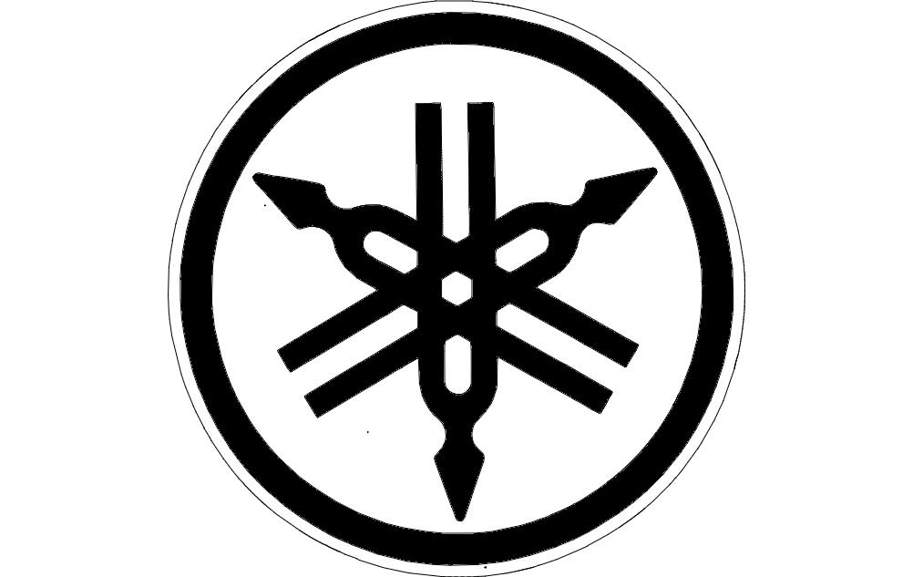 yamaha logo old free dxf file for free download vectors art yamaha logo old free dxf file for free