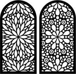 Flower Shaped Window Pattern For Laser Cut Cnc Free CDR Vectors Art
