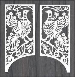 Gangster Rooster Pattern For Laser Cut Cnc Free CDR Vectors Art