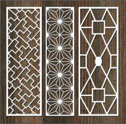 Glass Frame Column Pattern For Laser Cut Cnc Free CDR Vectors Art