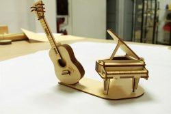 Model Of Assembling Piano Music For Laser Cut Cnc Free CDR Vectors Art