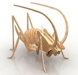 Model Of Cricket Assembly For Laser Cut Cnc Free CDR Vectors Art