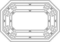 Octagonal Wooden Desk Pattern For Laser Cut Cnc Free CDR Vectors Art