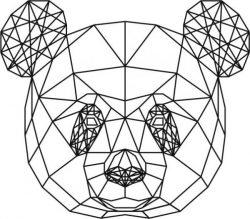 Panda Head 3d Murals For Laser Cut Plasma Decal Free CDR Vectors Art