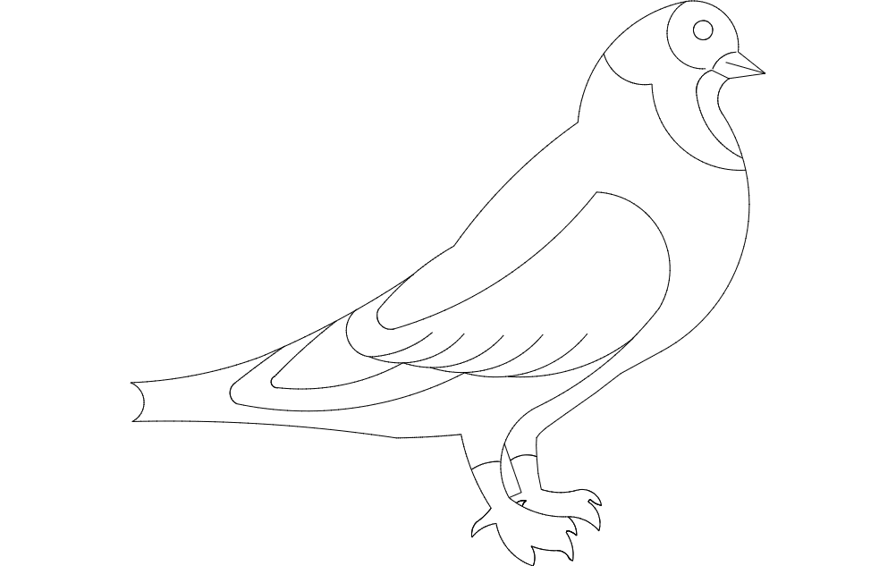 Pigeon Free DXF File