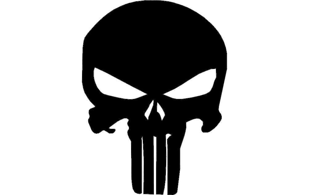 Punisher Skull Silhouette Free DXF File