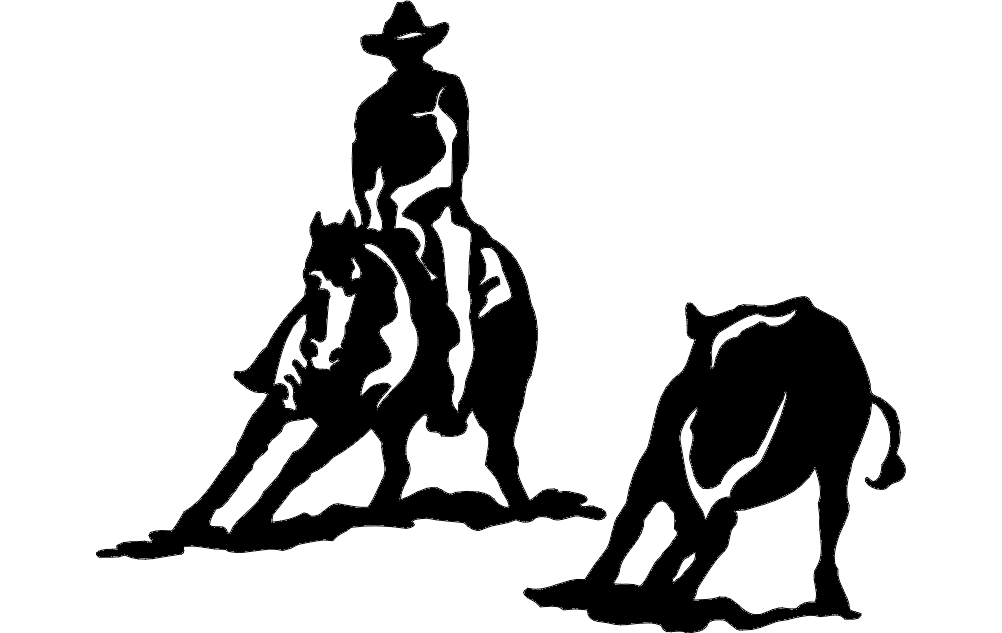 Rodeo Silhouette 2 Free DXF File