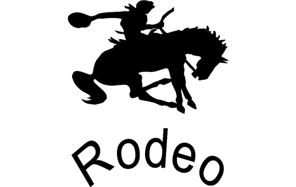 Rodeo Silhouette 65 Free DXF File