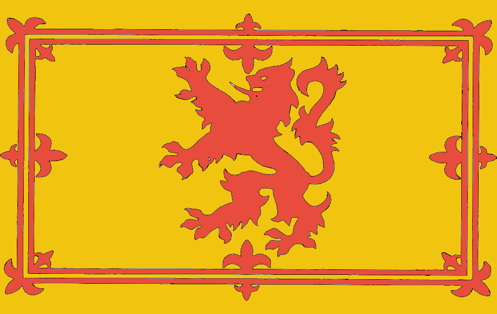 Royal Lion Rampant Scotland Flag Free DXF File