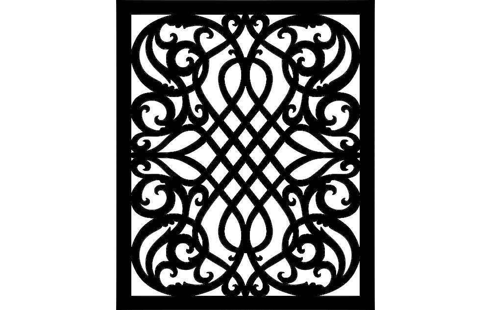 Scroll Saw Pattern Free DXF File