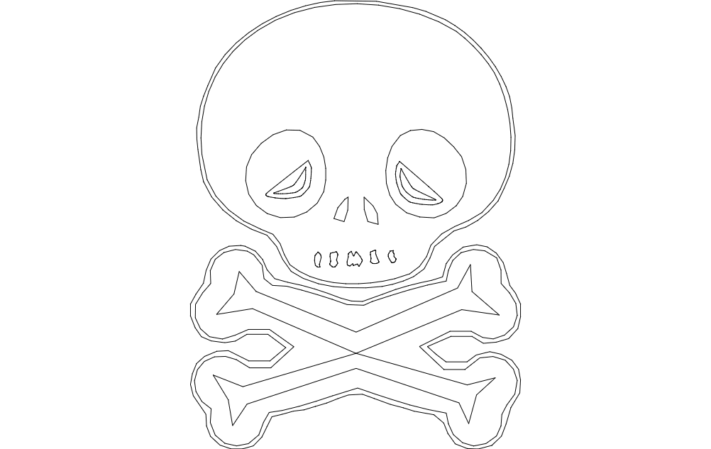 Skull Outline Free DXF File