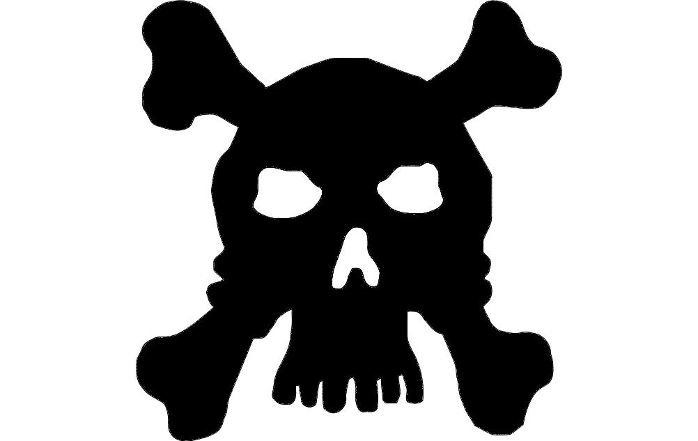 Skull Silhouette Free DXF File