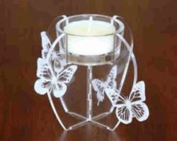 Candle Tray For Laser Cut Cnc Free DXF File