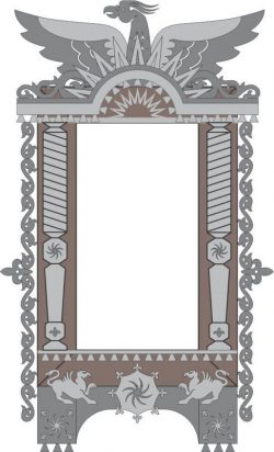 Decorate The Eagle Window For Laser Cut Cnc Free DXF File