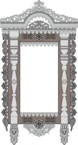 Decorate The Temple Shaped Window For Laser Cut Cnc Free DXF File