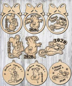 Decoration Mouse Image 2020 For Laser Cut Plasma Decal Free DXF File