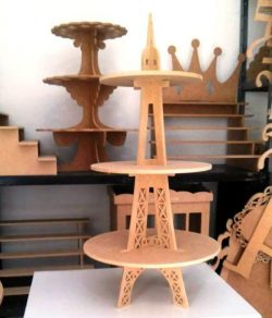 Display Price Of Eiffel Tower Products For Laser Cut Cnc Free DXF File