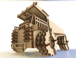 Wooden Truck Model For Laser Cut Cnc Free DXF File