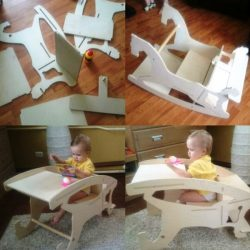 Assembling A toddler's Feeding Chair For Laser Cut Cnc Free DXF File