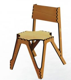Wooden Chairs For Laser Cut Cnc Free DXF File