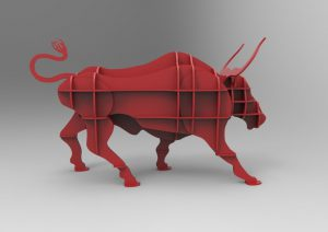 Angry Bull Shelf Puzzle Free CDR Vectors Art