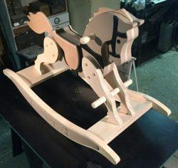 Assembling Seesaw Wooden Horse For Children For Laser Cut Cnc Free CDR Vectors Art