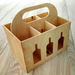 Beer Box Caddy For Laser Cut Cnc Free CDR Vectors Art