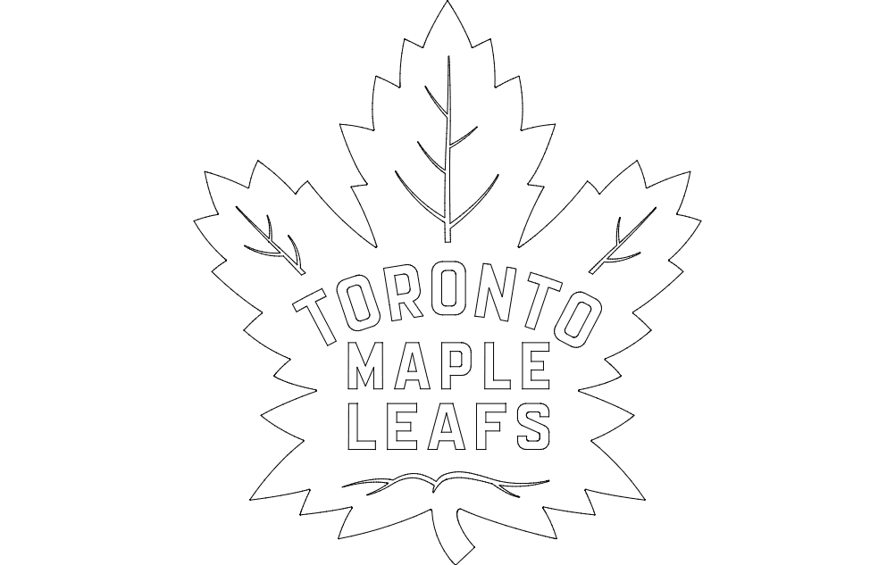 Maple Leaf Free DXF File