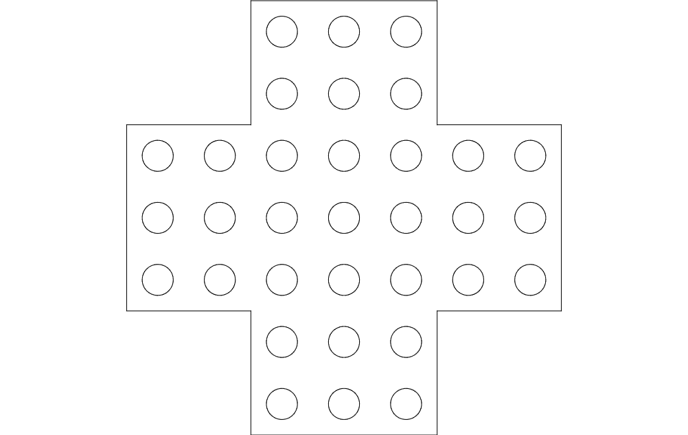Marble Solitaire Free DXF File