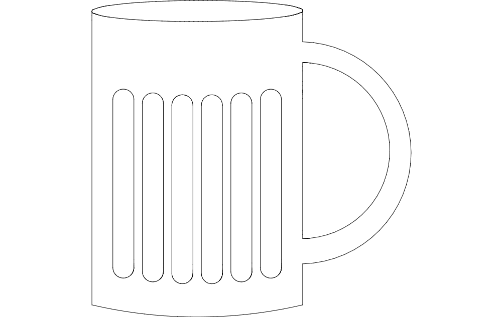 Martini Glass Free DXF File