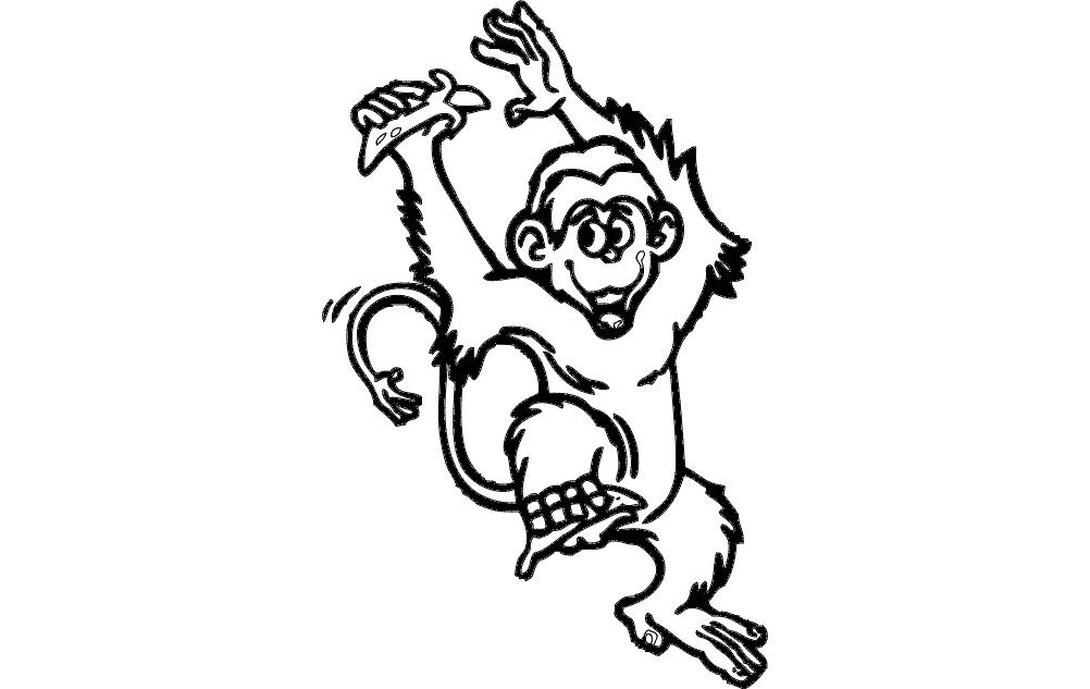 Monkey Free DXF File