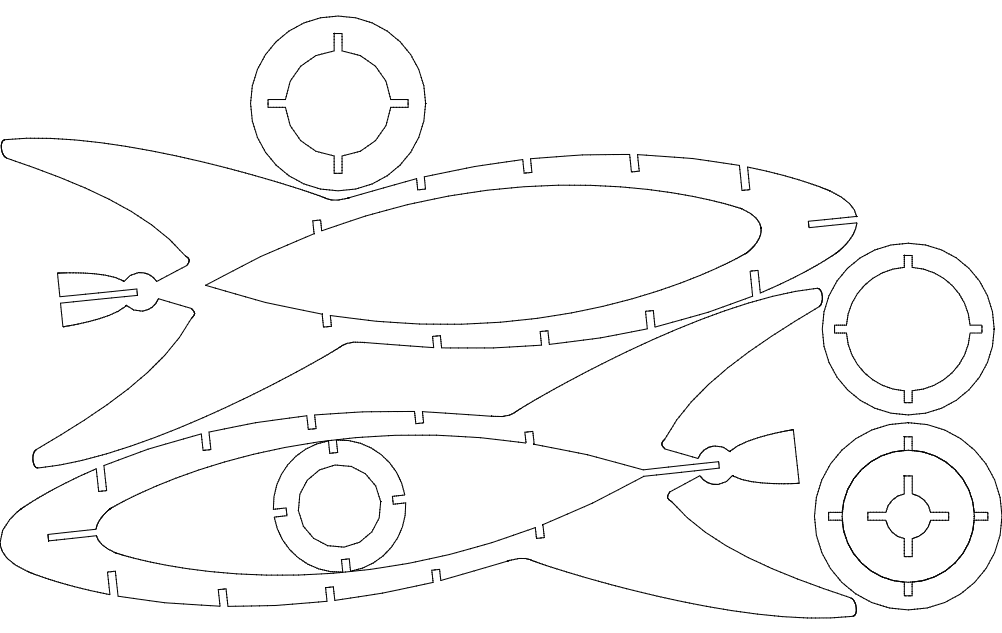 Rocket 3d Model Free DXF File