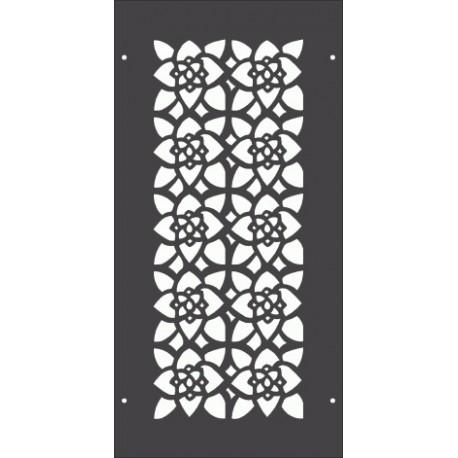 Floral Pattern Separator Free DXF File