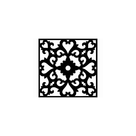 Flower Wall Border Stencil Template Free DXF File