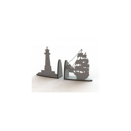 Laser Cut Ship Book Support Free DXF File