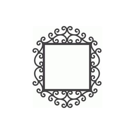 Swirly Mirror Frame Free DXF File