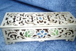 Marble Patterned Wooden Box For Laser Cut Cnc Free CDR Vectors Art