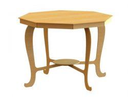 Octagonal Wooden Table For Laser Cut Cnc Free CDR Vectors Art