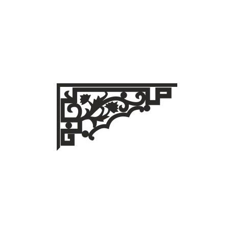 Decorative Floral Corner Free DXF File