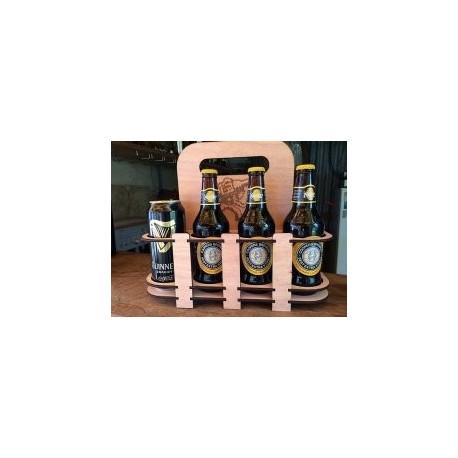 Laser Cut Beer Holder 8 Pack Free DXF File