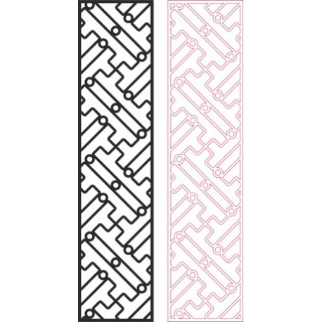 Partition Design Pattern For Laser Cut Wood Free DXF File