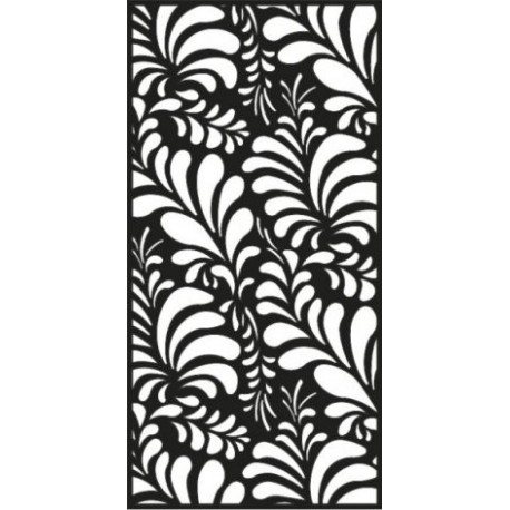 Vintage Metal Cut Out Panel Free DXF File