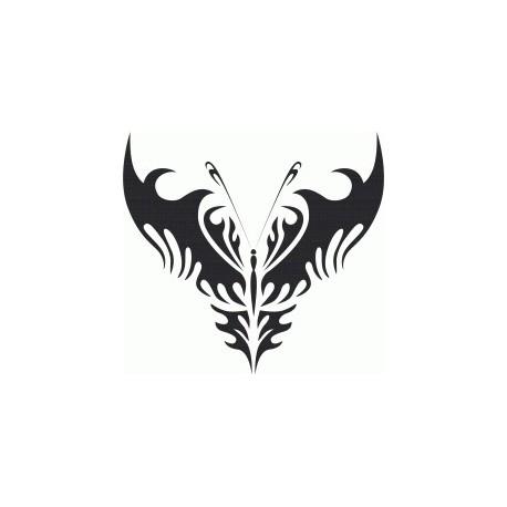 Tribal Butterfly Art 24 Free DXF File