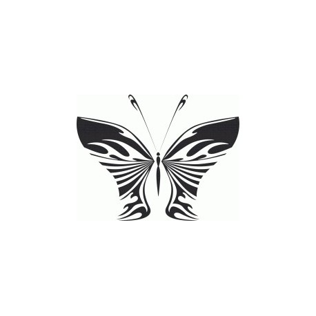 Butterfly Art Illustration Free DXF File