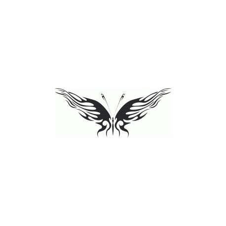 Butterfly Tattoo Design Free DXF File